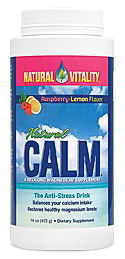 Natural Calm, 16 oz Raspberry-Lemon