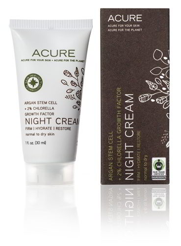 Night Cream: Argan Stem Cell + 2% Chlorella Growth, 1 oz