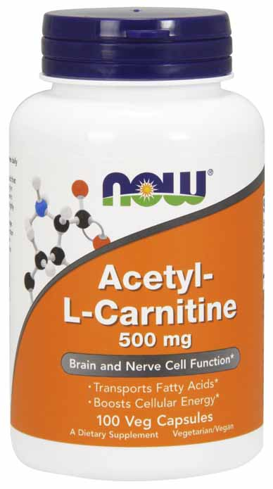 Acetyl-L Carnitine 500 mg, 100 Vcaps