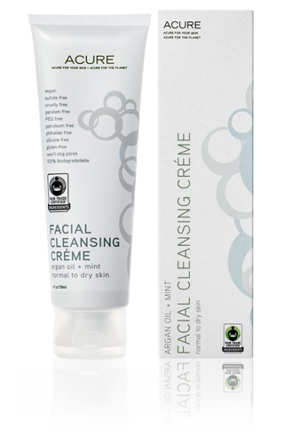 Facial Cleansing Creme Argan Oil + Mint, 4 oz