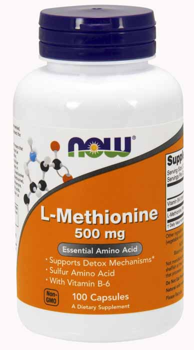 L-Methionine 500 mg, 100 Caps