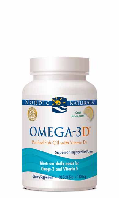 Omega-3D, 60 Softgels Lemon