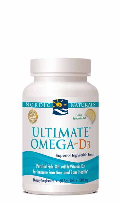 Ultimate Omega-D3, 60 Softgels Lemon