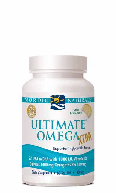 Ultimate Omega Xtra, 60 Softgels Lemon