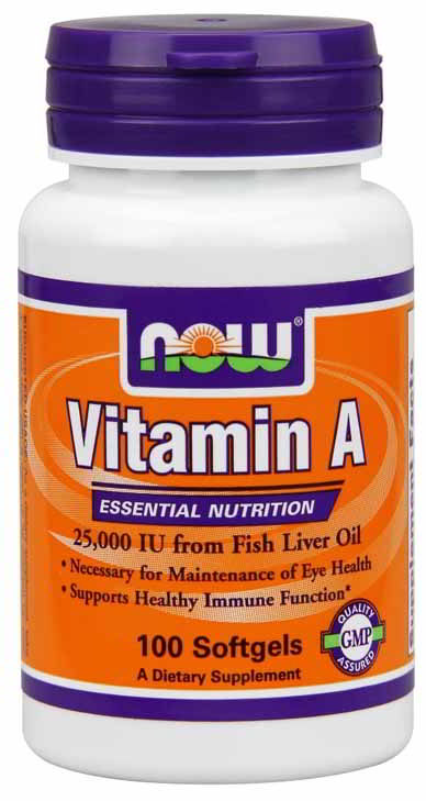 Vitamin A 25,000 IU, 100 Softgels