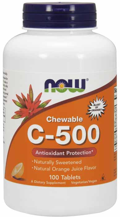 Vitamin C-500 Chewable Orange, 100 Lozenges