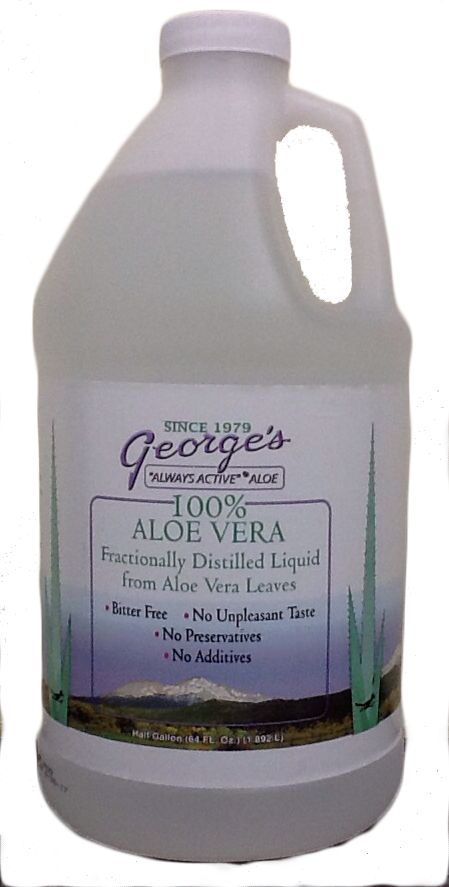 Aloe Vera George's 100% Liquid, Half Gallon