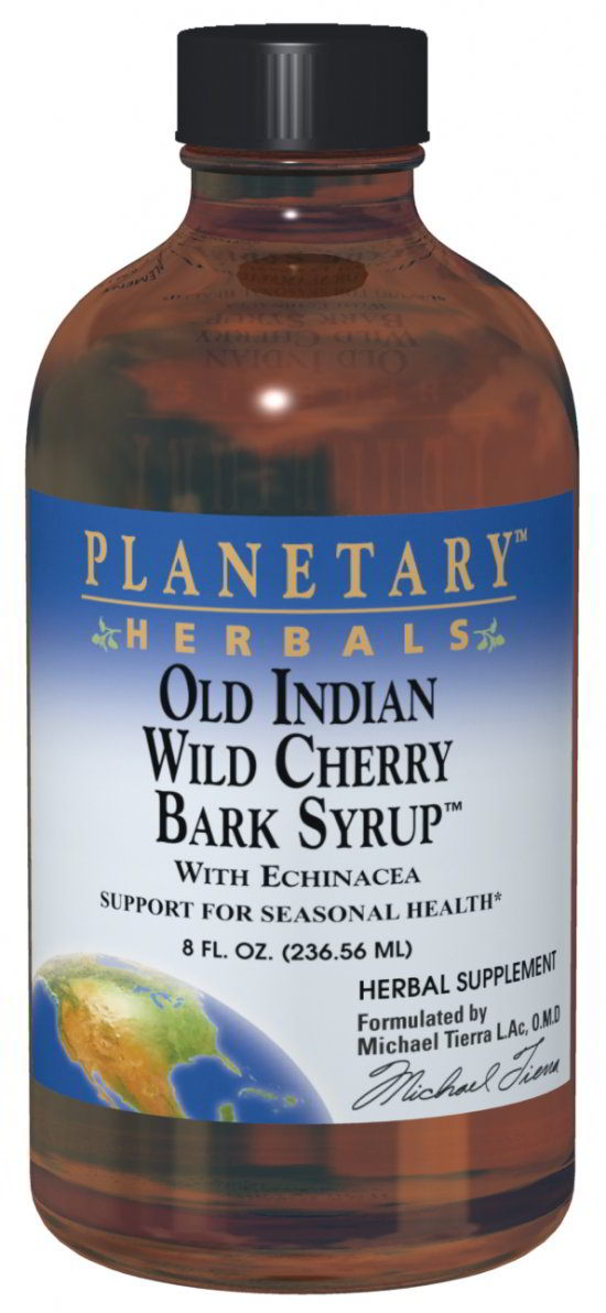 Old Indian Wild Cherry Bark Syrup, 8 fl oz