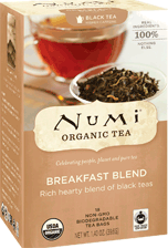 Breakfast Blend Organic, 18 Tea Bags 1.40 oz