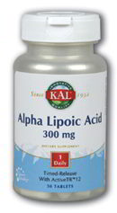 Alpha Lipoic Acid 300 mg Time Release, 30 Tab