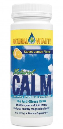 Natural Calm, 8 oz Lemon