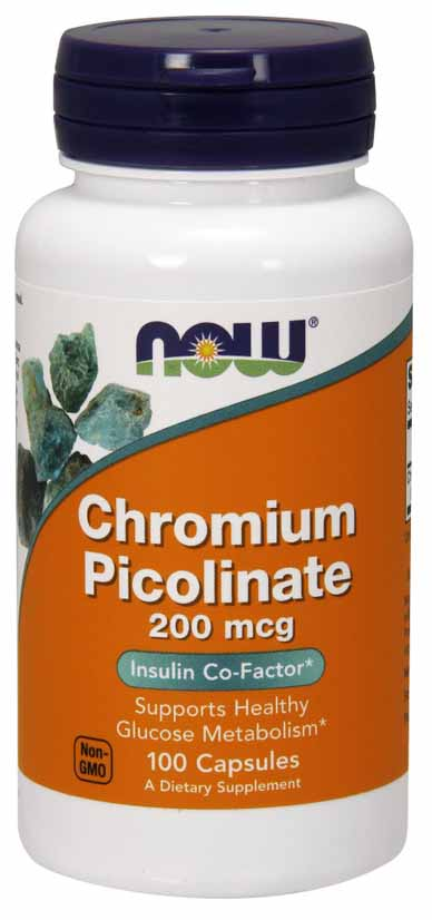 Chromium Picolinate 200 mcg, 100 Caps