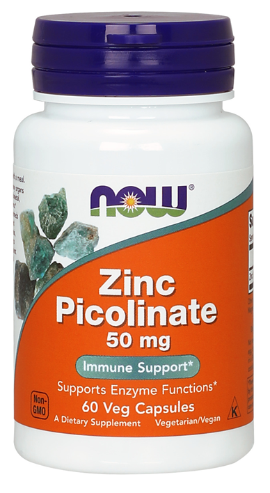 Zinc Picolinate 50 mg, 60 Caps