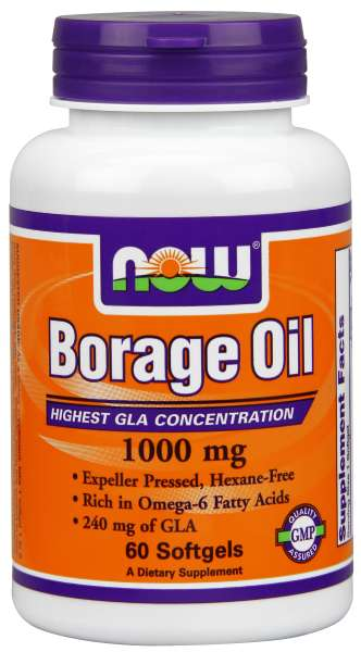 Borage Oil 1000 mg, 240 mg GLA, 60 softgels