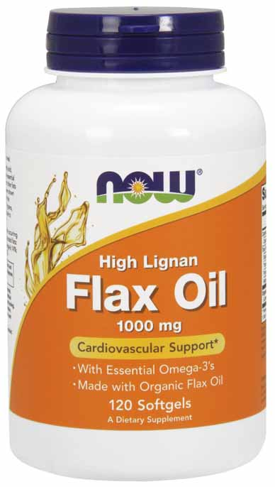 Flax Oil 1000 mg, 120 Softgels