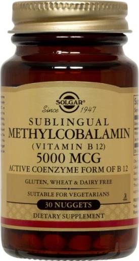 Methylcobalamin (Vitamin B12) 5000 mcg, 30 Nuggets