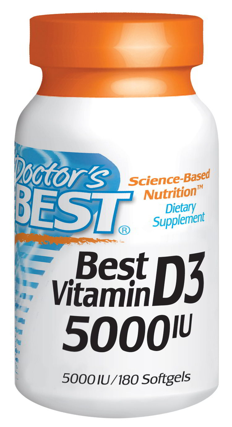 Vitamin D-3 5000 IU, 180 Softgels