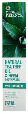 Natural Tea Tree Oil & Neem Toothpaste, 6.25 oz