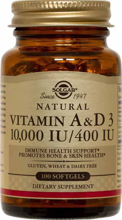 Vitamin A & D3 10,000 IU/400 IU, 100 Softgels