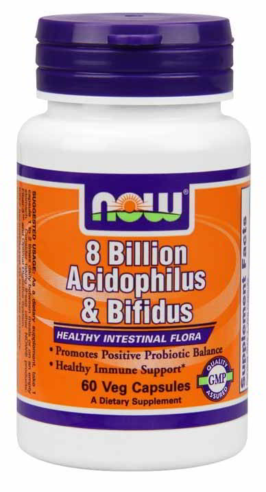 Acidophilus and Bifidus 8 Billion, 60 Veg Capsules