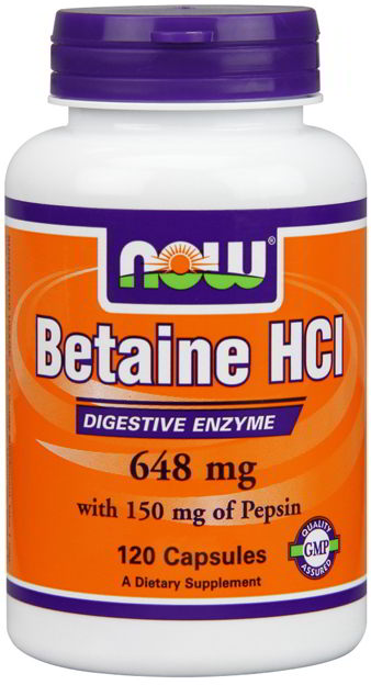 Betaine HCI, 120 Caps