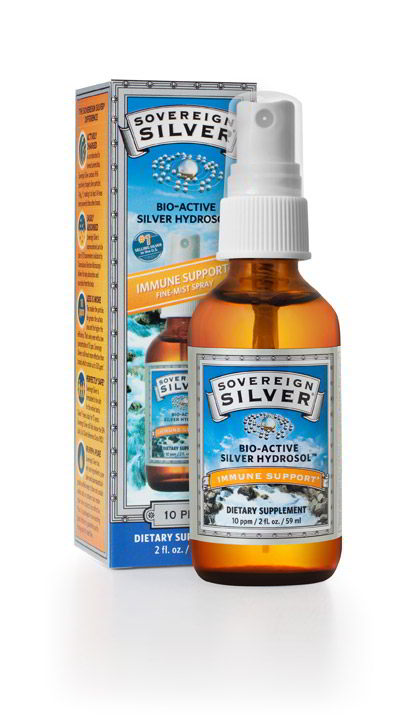 Silver Hydrosol - Fine Mist Spray-Top, 2 oz (59 ml)