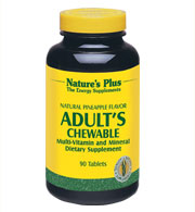 Adult's Multi-Vitamin Chewable - Pineapple Flavor, 90 Tabs