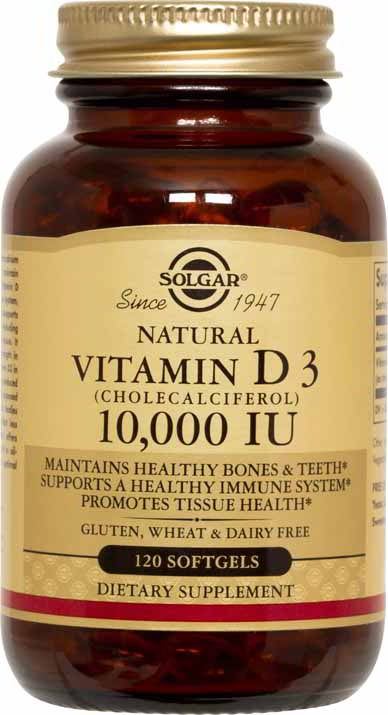 Vitamin D3 (Cholecalciferol) 10,000 IU, 120 Softgels