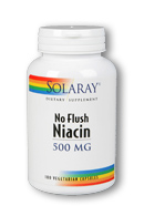 Niacin No Flush 500 mg, 100 Vcaps