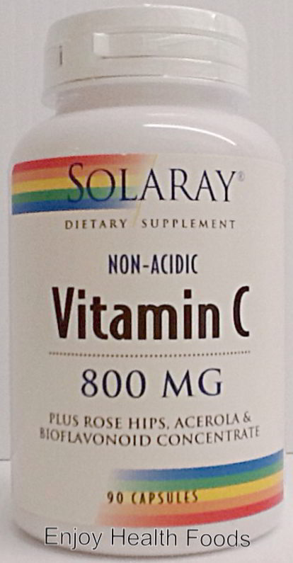Vitamin C Non-Acidic 800 mg, 90 Caps