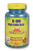B-100 High Folic Acid, 100 Caps