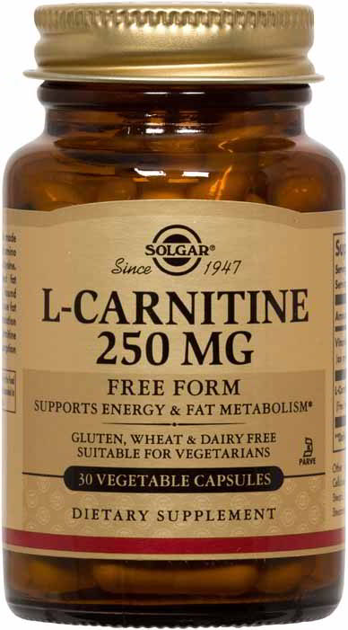 L-Carnitine 250 mg, 30 Vegetable Caps
