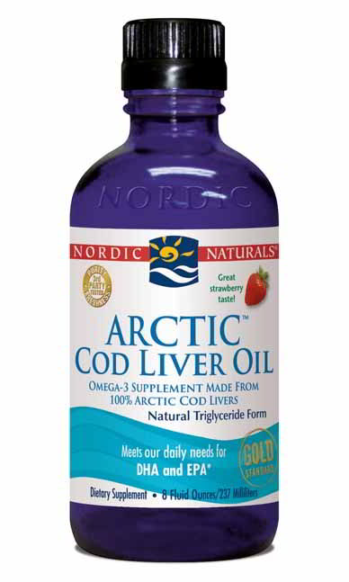 Cod Liver Oil Arctic, 8 oz Strawberry