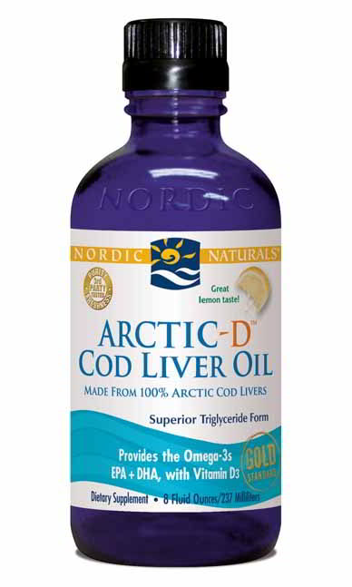 Cod Liver Oil Arctic-D, 8 oz Lemon