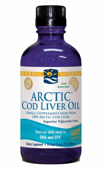 Cod Liver Oil Arctic, 8 oz Lemon