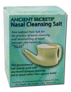 Nasal Cleansing Salt Salt Packet, 40 ct