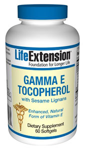 Gamma E Tocopherol with Sesame Lignans, 60 Softgels