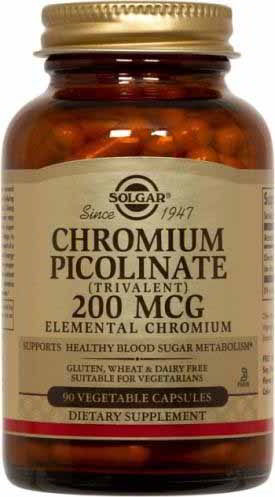 Chromium Picolinate 200 mcg, 90 Vegetable Caps