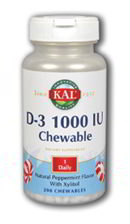 D-3 1000 IU, 200 Chewables