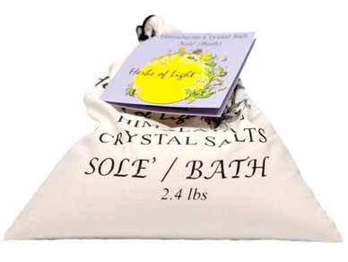 Himalayan Crystal Salts - Sole Bath Salts cotton bag, 2.4 lbs