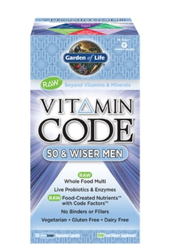 Vitamin Code 50 & Wiser Men, 120 Vegetarian Caps