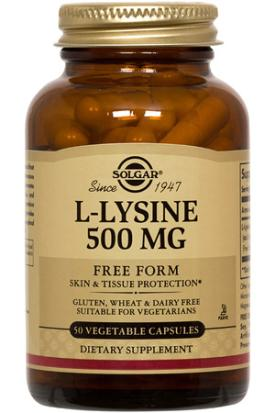 L-Lysine 500 mg, 50 Vegetable Caps