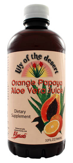 Aloe Vera Juice Orange Papaya, 32 fl oz