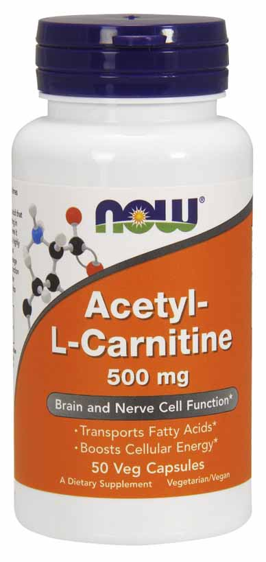 Acetyl-L Carnitine 500 mg, 50 Vcaps - Click Image to Close
