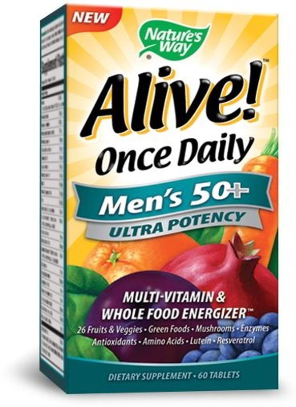 Alive! Once Daily Men's 50+, 60 Tabs