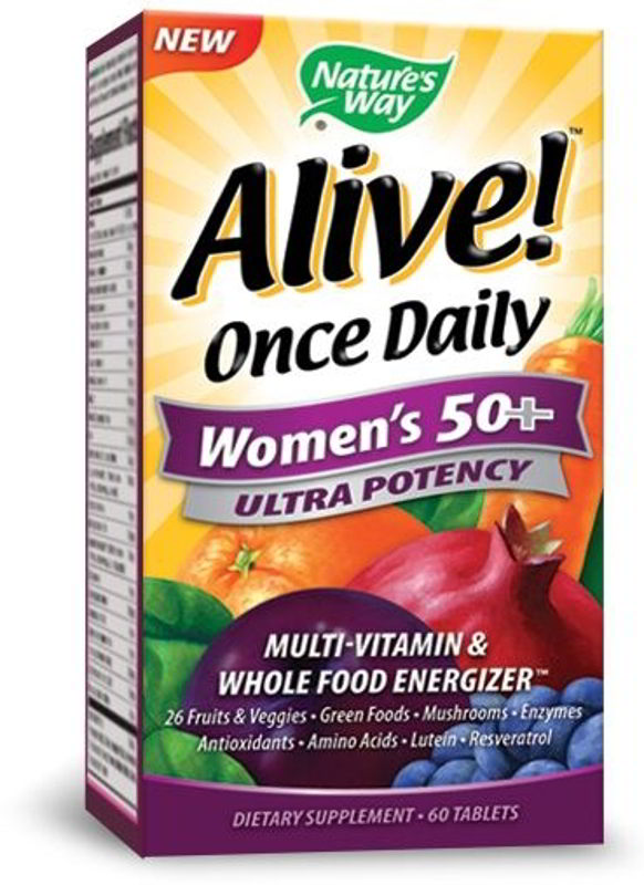 Alive! Once Daily Women's 50+, 60 Tabs