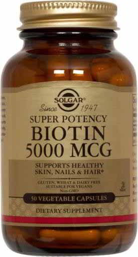 Biotin 5000 mcg, 100 Vegetable Caps